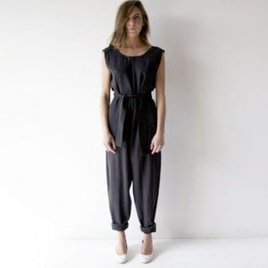 Hack with Design House black sleeveless jumpsuit